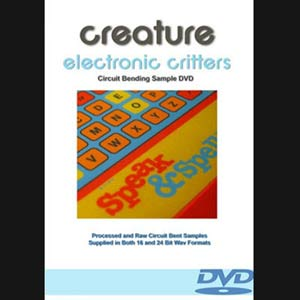 Electronic Critters by Haunted House Records is a sample library feature sound effects recorded from circuit bent toys such as the speak and spell and furby.