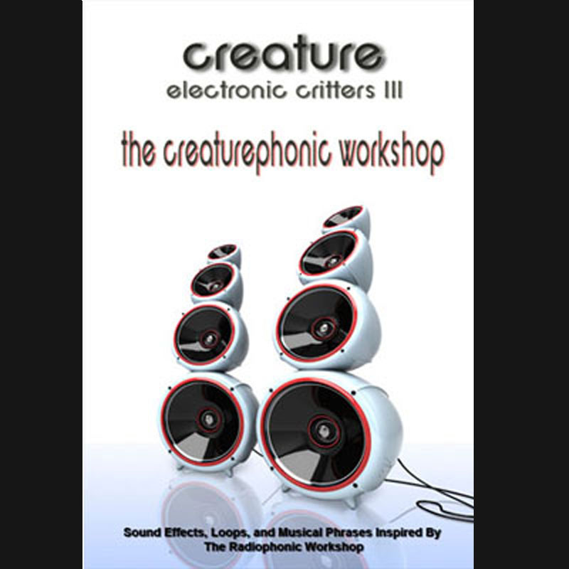 Electronic Critters : Creaturephonic Workshop, Industrial Drum Hits, Industrial Beats, Industrial Loops, EBM Drum Loops, Sound Effects, Download Sound Effects, Royalty Free Sounds
